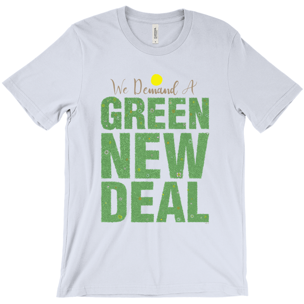 We Demand A Green New Deal Men's T-Shirt by Shane Henderson Ash / Extra Small (XS) T-Shirt Green New Deal