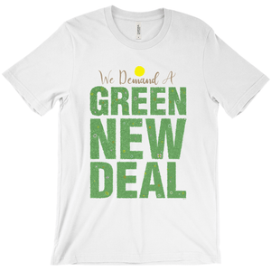 We Demand A Green New Deal Men's T-Shirt by Shane Henderson White / Extra Small (XS) T-Shirt Green New Deal