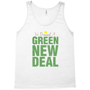 We Demand A Green New Deal Men's Tank Top by Shane Henderson