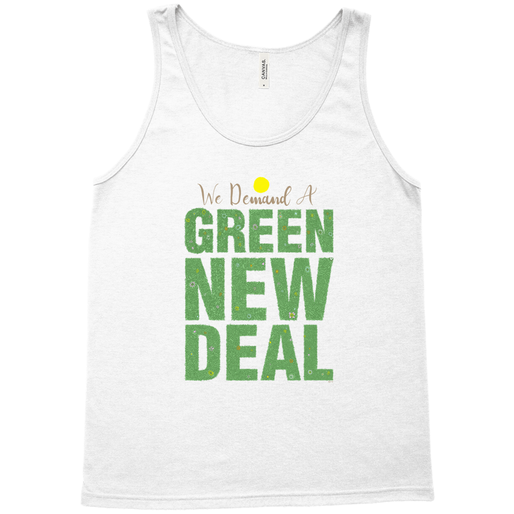 We Demand A Green New Deal Men's Tank Top by Shane Henderson Athletic Heather / Extra Small (XS) Tank Top Green New Deal