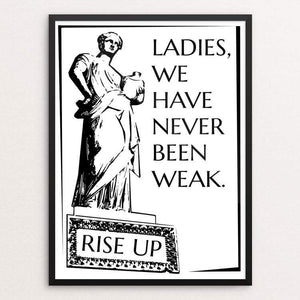 "We Have Never Been Weak by Maura McLaughlin 18"" by 24"" Print / Framed Print Creative Action Network"