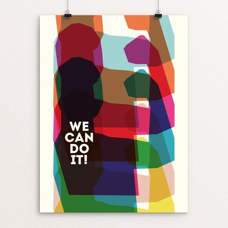 "We're All Workers by Michael Czerniawski 12"" by 16"" Print / Unframed Print We Can Do It!"