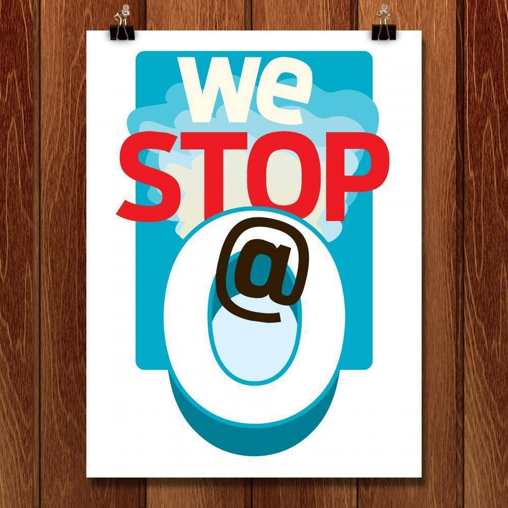 "We Stop @ 0 by Monica Alisse 18"" by 24"" Print / Unframed Print Demand Zero"