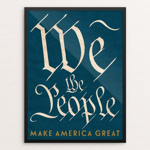 "We The People by Ed Gaither 12"" by 16"" Print / Framed Print What Makes America Great"