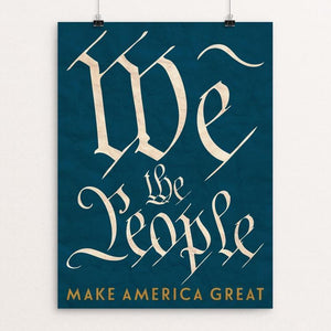 "We The People by Ed Gaither 12"" by 16"" Print / Unframed Print What Makes America Great"