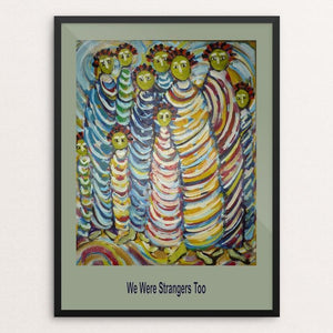 "We The People by Frances Steinmark 12"" by 16"" Print / Framed Print We Were Strangers Too"