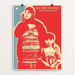 "We The People by Nik Dodani 12"" by 16"" Print / Unframed Print What Makes America Great"