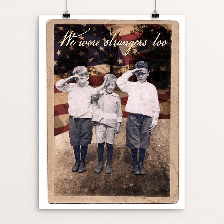 "We Were Strangers Too by Don Henderson 12"" by 16"" Print / Unframed Print We Were Strangers Too"