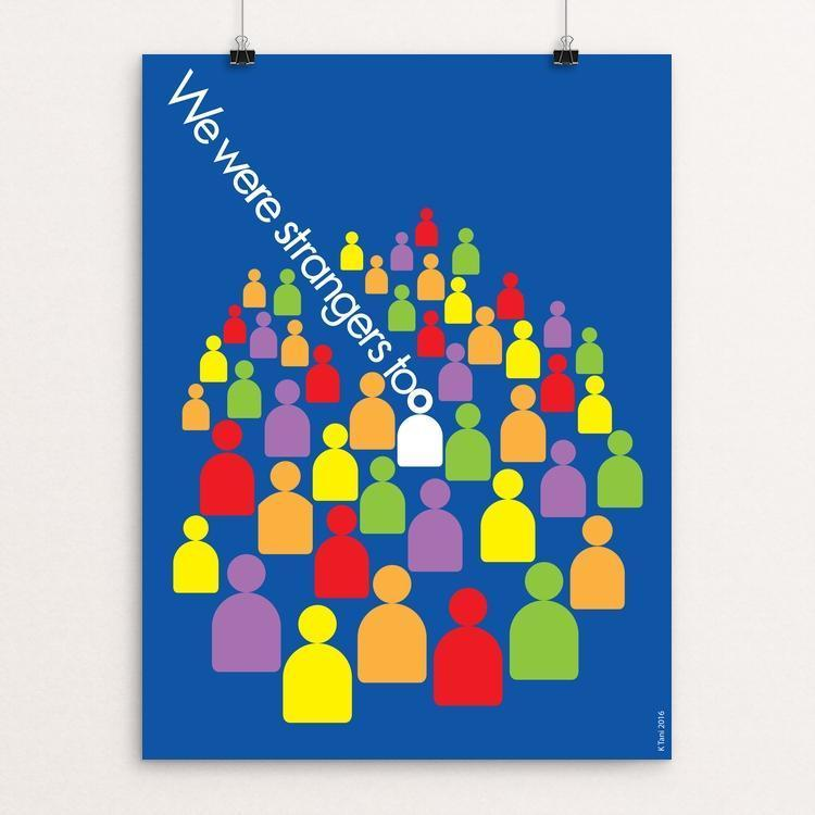 "We Were Strangers Too by Karl Tani 12"" by 16"" Print / Unframed Print We Were Strangers Too"