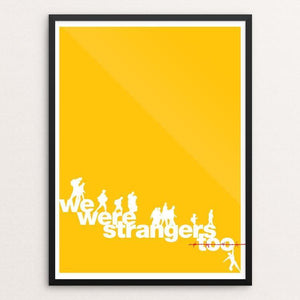 "We were strangers too by Keith Francis 12"" by 16"" Print / Framed Print We Were Strangers Too"