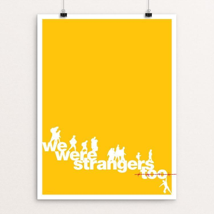 "We were strangers too by Keith Francis 12"" by 16"" Print / Unframed Print We Were Strangers Too"
