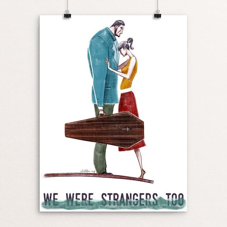 "We Were Strangers Too by Xelon Xlf 12"" by 16"" Print / Unframed Print We Were Strangers Too"