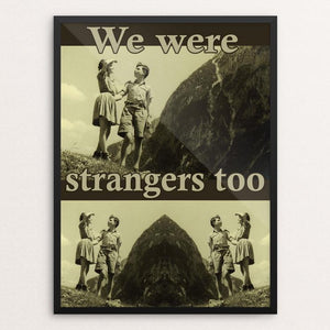 "We Were Strangers Too: Eva and Helmut by Sara Chang 12"" by 16"" Print / Framed Print We Were Strangers Too"