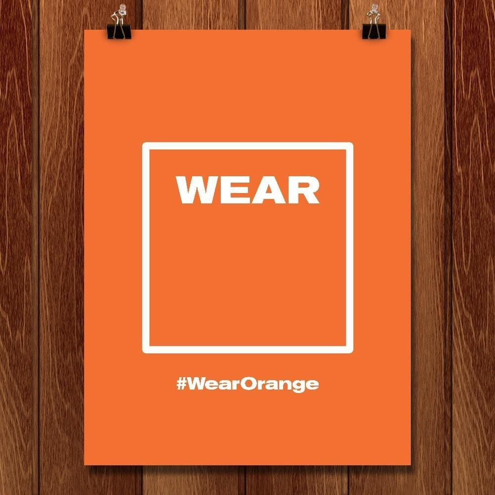 "Wear [  ] by Mister Furious 12"" by 16"" Print / Unframed Print Wear Orange"