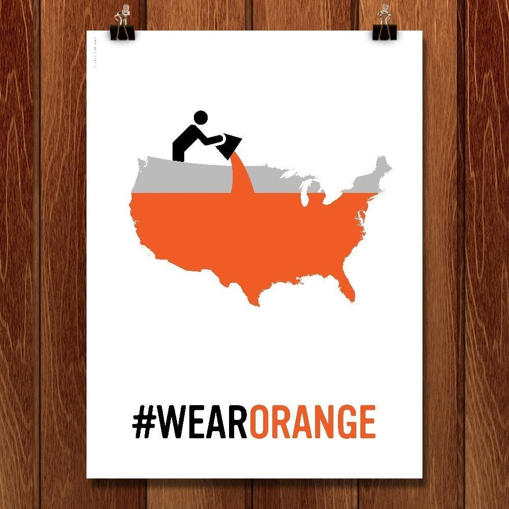 "Wear Orange 3 by Luis Prado 12"" by 16"" Print / Unframed Print Wear Orange"