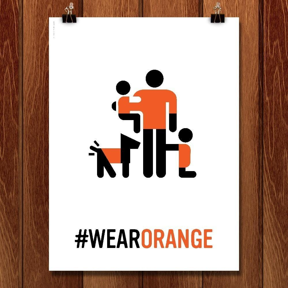 "Wear Orange 4 by Luis Prado 12"" by 16"" Print / Unframed Print Wear Orange"