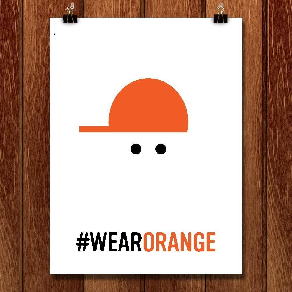 "Wear Orange 5 by Luis Prado 12"" by 16"" Print / Unframed Print Wear Orange"