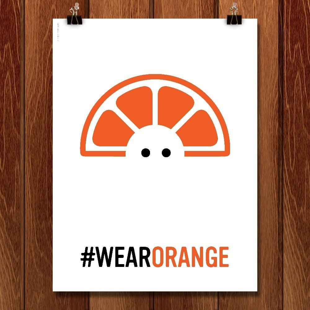 "Wear Orange 6 by Luis Prado 12"" by 16"" Print / Unframed Print Wear Orange"