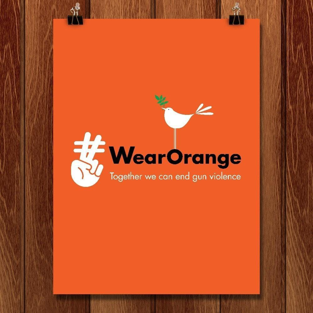 "Wear Orange by Kevin Mcgeen 12"" by 16"" Print / Unframed Print Wear Orange"