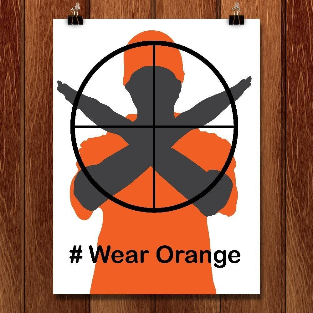"Wear Orange by Lyla Paakkanen 12"" by 16"" Print / Unframed Print Wear Orange"