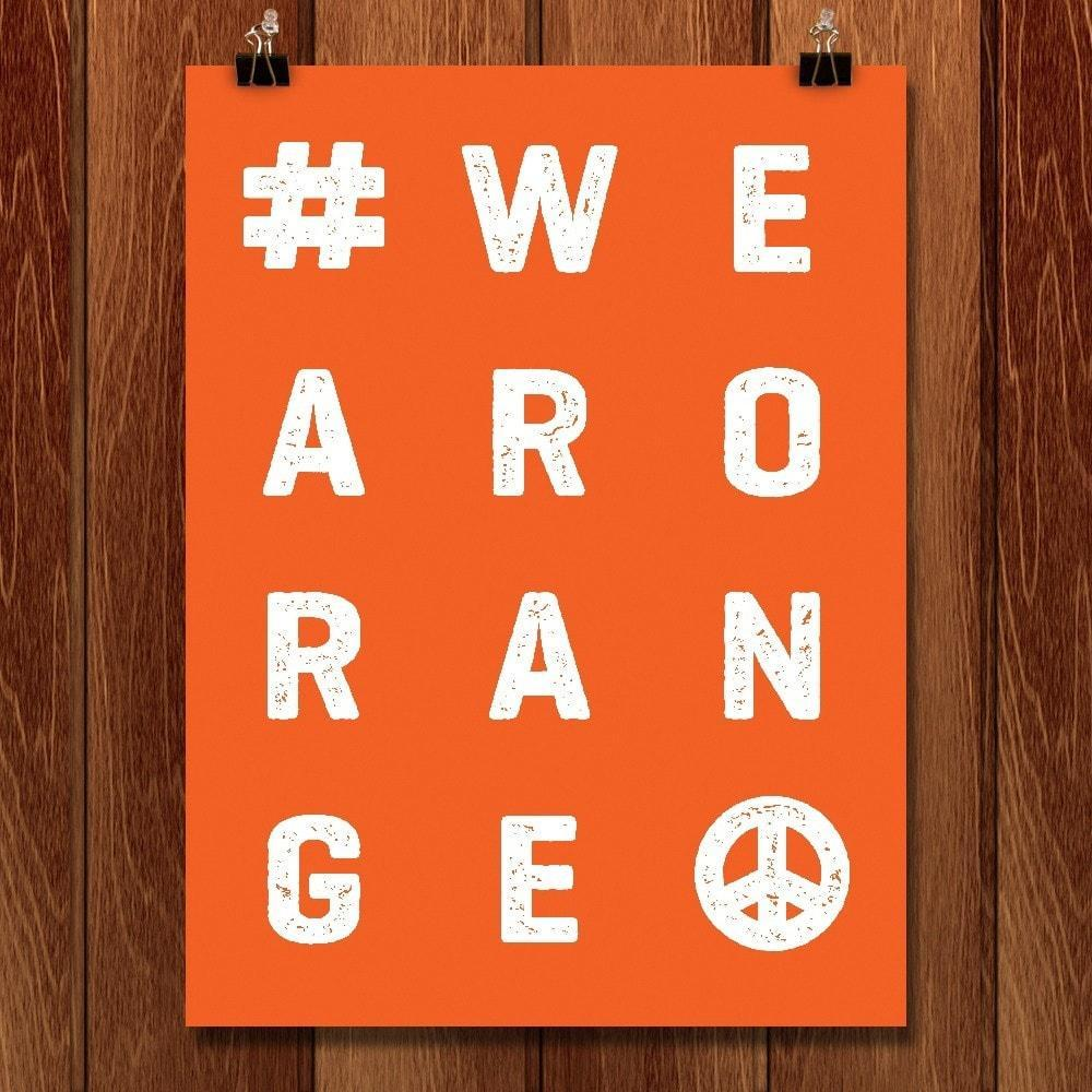 "Wear Orange by Shane Henderson 12"" by 16"" Print / Unframed Print Wear Orange"
