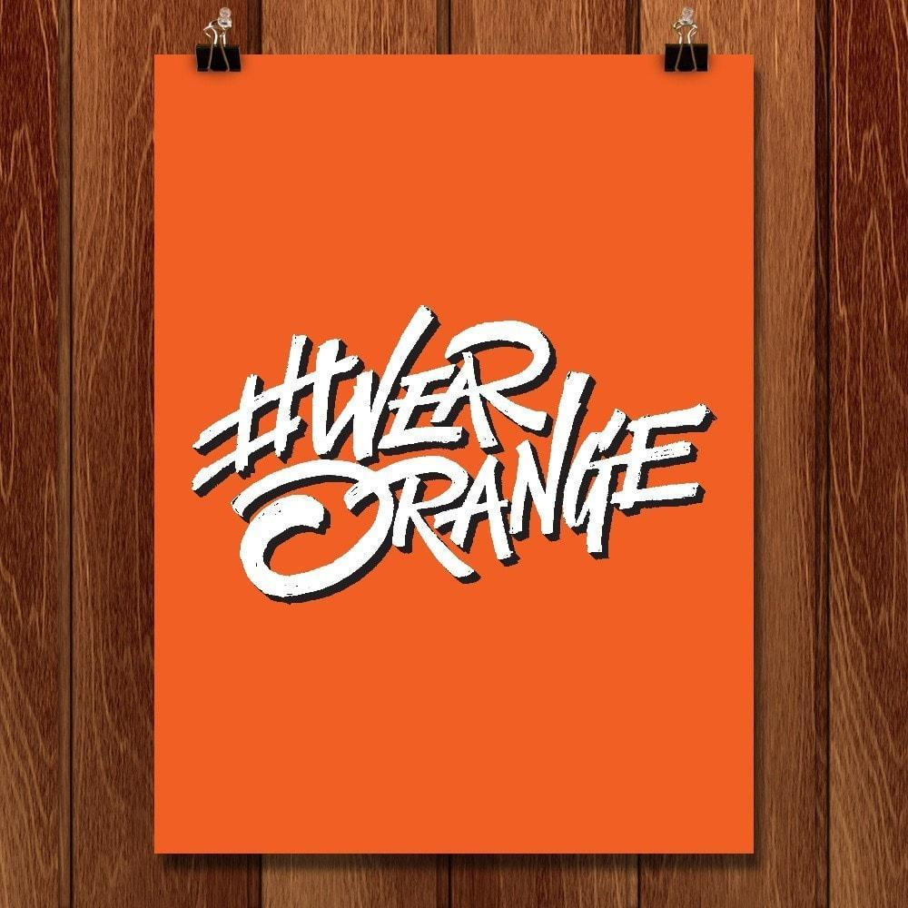 Wear Orange Lettering by Roberlan Paresqui