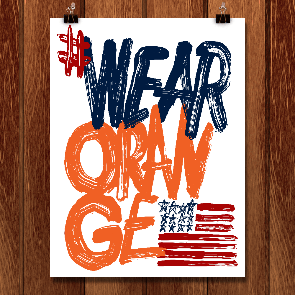 Wear Orange Poster 1 by Mark Forton