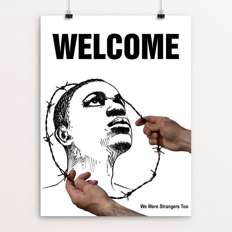 "Welcome by Tomaso Marcolla 12"" by 16"" Print / Unframed Print We Were Strangers Too"