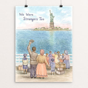 "Welcome to America, Early 1900's by Elizabeth Kennen 12"" by 16"" Print / Unframed Print We Were Strangers Too"