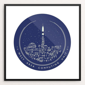 "West Area Computing NASA/Hidden Figures Homage at Langley by Katarina Eriksson 12"" by 12"" Print / Framed Print Space Horizons"