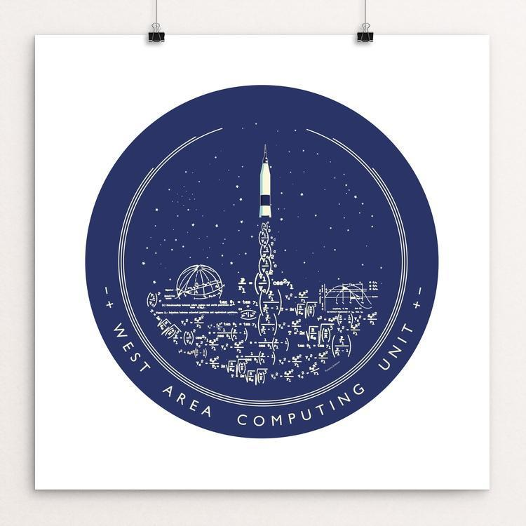 "West Area Computing NASA/Hidden Figures Homage at Langley by Katarina Eriksson 12"" by 12"" Print / Unframed Print Space Horizons"
