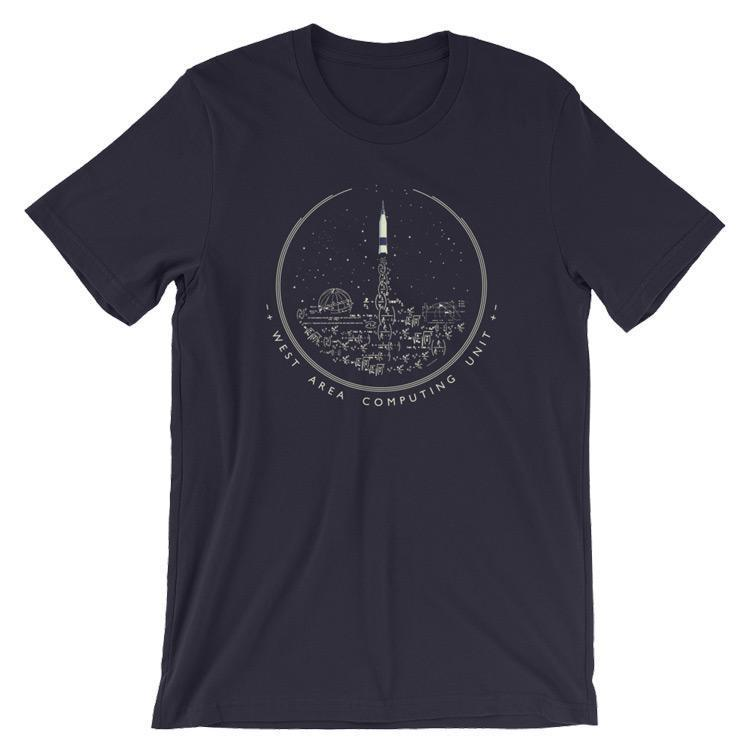 West Area Computing NASA/Hidden Figures Homage T-Shirt by Katarina Eriksson S / Men's T-Shirt Space Horizons