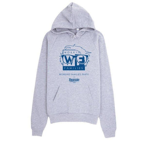 WFP for Bernie Hoodie by Rafael Shimunov S / Heather Grey Hoodie Working Families P(ART)Y