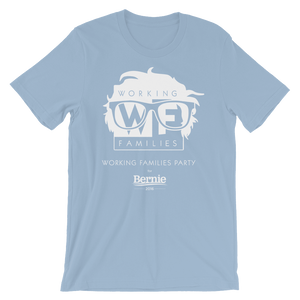 WFP for Bernie T-Shirt by Rafael Shimunov S / Men's / Light Blue T-Shirt Working Families P(ART)Y