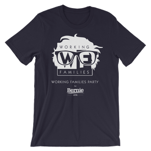 WFP for Bernie T-Shirt by Rafael Shimunov S / Men's / Navy Blue T-Shirt Working Families P(ART)Y