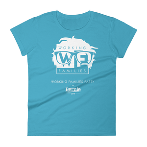 WFP for Bernie T-Shirt by Rafael Shimunov S / Women's / Light Blue T-Shirt Working Families P(ART)Y