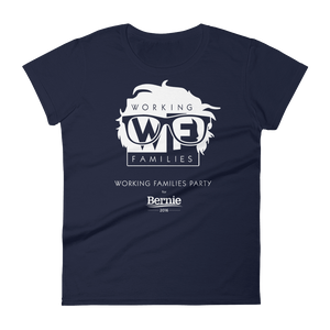 WFP for Bernie T-Shirt by Rafael Shimunov S / Women's / Navy Blue T-Shirt Working Families P(ART)Y