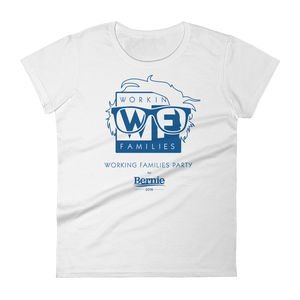 WFP for Bernie T-Shirt by Rafael Shimunov S / Women's / White T-Shirt Working Families P(ART)Y
