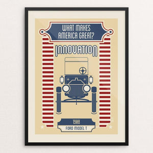 "What Makes America Great Innovation by Shane Henderson 12"" by 16"" Print / Framed Print What Makes America Great"