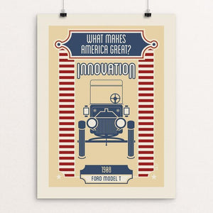 "What Makes America Great Innovation by Shane Henderson 12"" by 16"" Print / Unframed Print What Makes America Great"