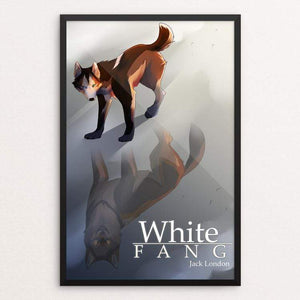 "White Fang by Vic Berrios 12"" by 18"" Print / Framed Print Recovering the Classics"