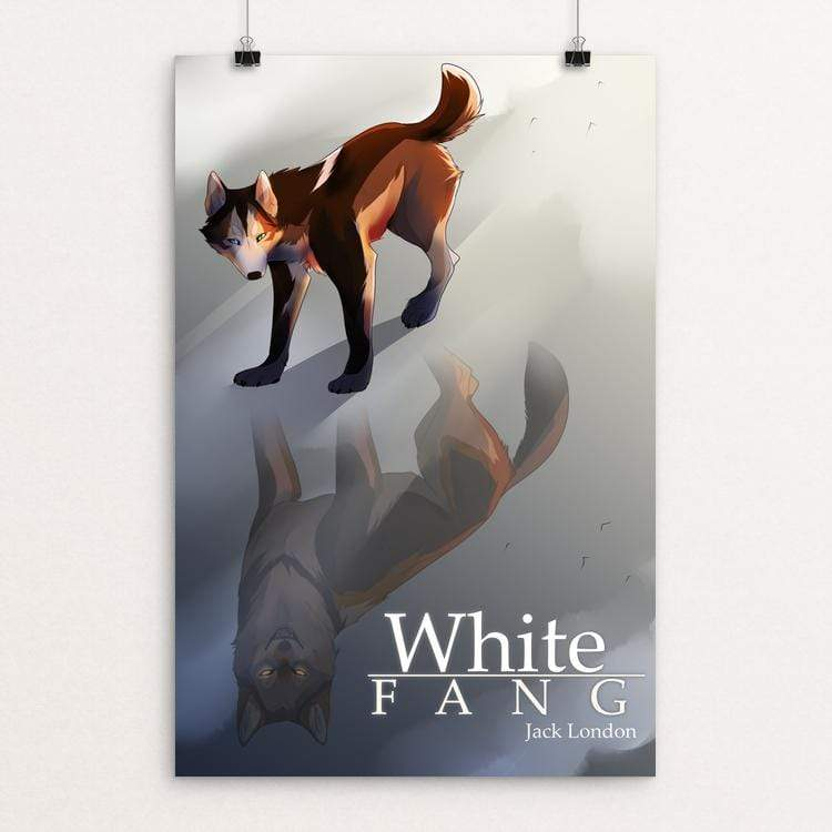 "White Fang by Vic Berrios 12"" by 18"" Print / Unframed Print Recovering the Classics"