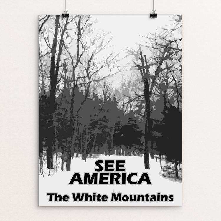 "White Mountain National Forest by Eitan S. Kaplan 12"" by 16"" Print / Unframed Print See America"