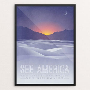"White Sands National Monument by Autumn Brown 12"" by 16"" Print / Framed Print See America"