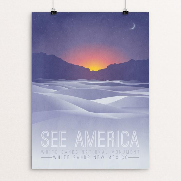 "White Sands National Monument by Autumn Brown 12"" by 16"" Print / Unframed Print See America"