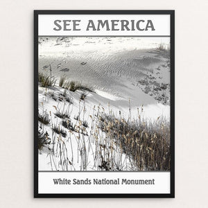 "White Sands National Monument by Marcia Brandes 12"" by 16"" Print / Framed Print See America"