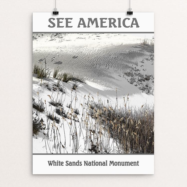 "White Sands National Monument by Marcia Brandes 12"" by 16"" Print / Unframed Print See America"