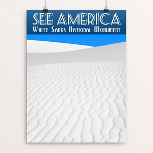 "White Sands National Monument by Zack Frank 12"" by 16"" Print / Unframed Print See America"