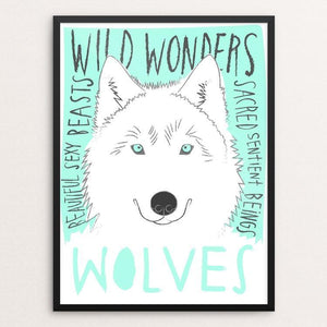 "Wild Wonderful Wolves by Bridget Shanahan 12"" by 16"" Print / Framed Print Join the Pack"
