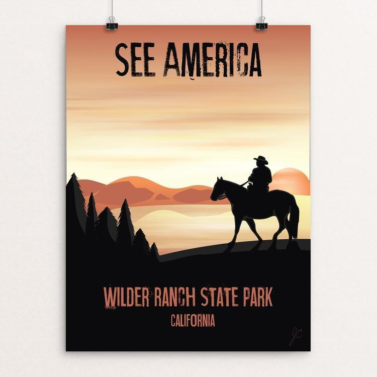 "Wilder Ranch by Jessica Waidhofer 12"" by 16"" Print / Unframed Print See America"